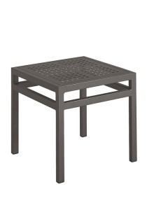 18″ SQUARE TEA TABLE-CHARCOAL 2K1338