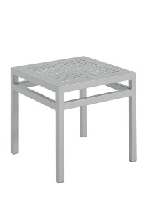 18″ SQUARE TEA TABLE-SILVER 2K1338