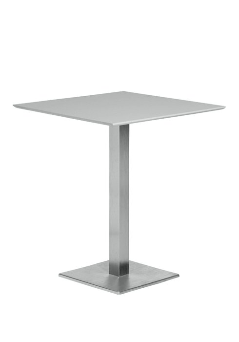 28″ SQUARE PEDESTAL BAR HEIGHT TABLE-SILVER 2T1391