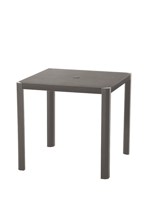 35″ SQAURE TABLE WITH OR W/OUT UMB HOLE-CHARCOAL 2R1376/U