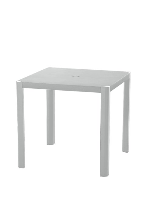 35″ SQAURE TABLE WITH OR W/OUT UMB HOLE-SILVER 2R1376/U