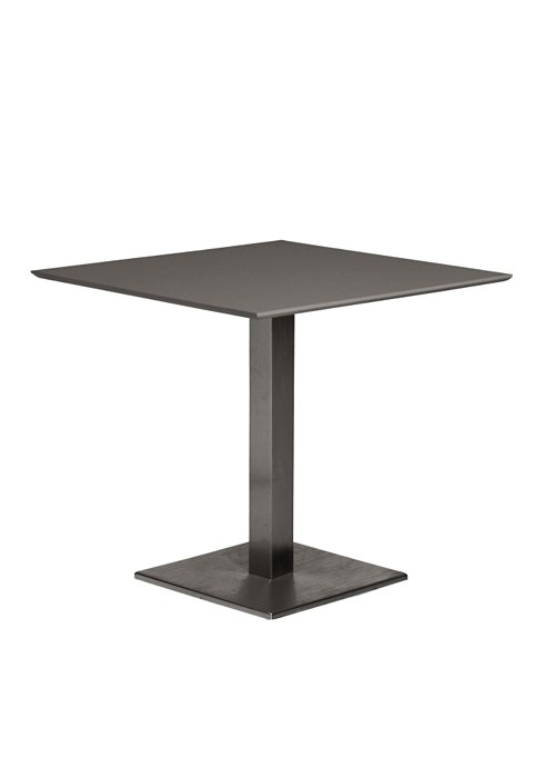 35″ SQAURE PEDESTAL TABLE WITH SQUARE BASE-CHARCOAL 2T1376