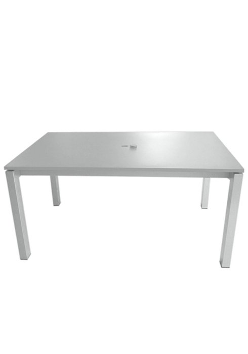 83X39″ RECT UMBRELLA TABLE-SILVER 2B1385U