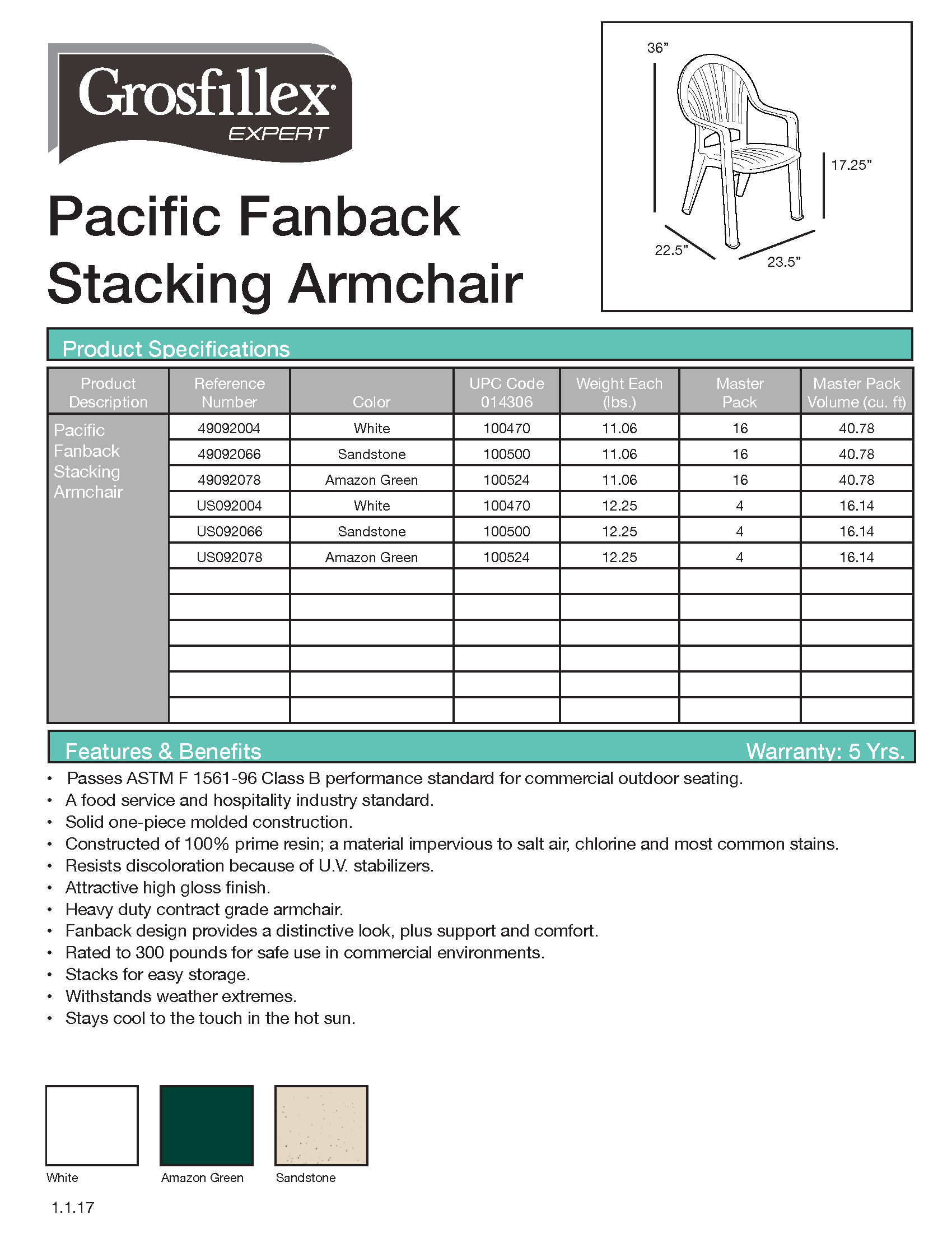 Pacific Fanback Armchair