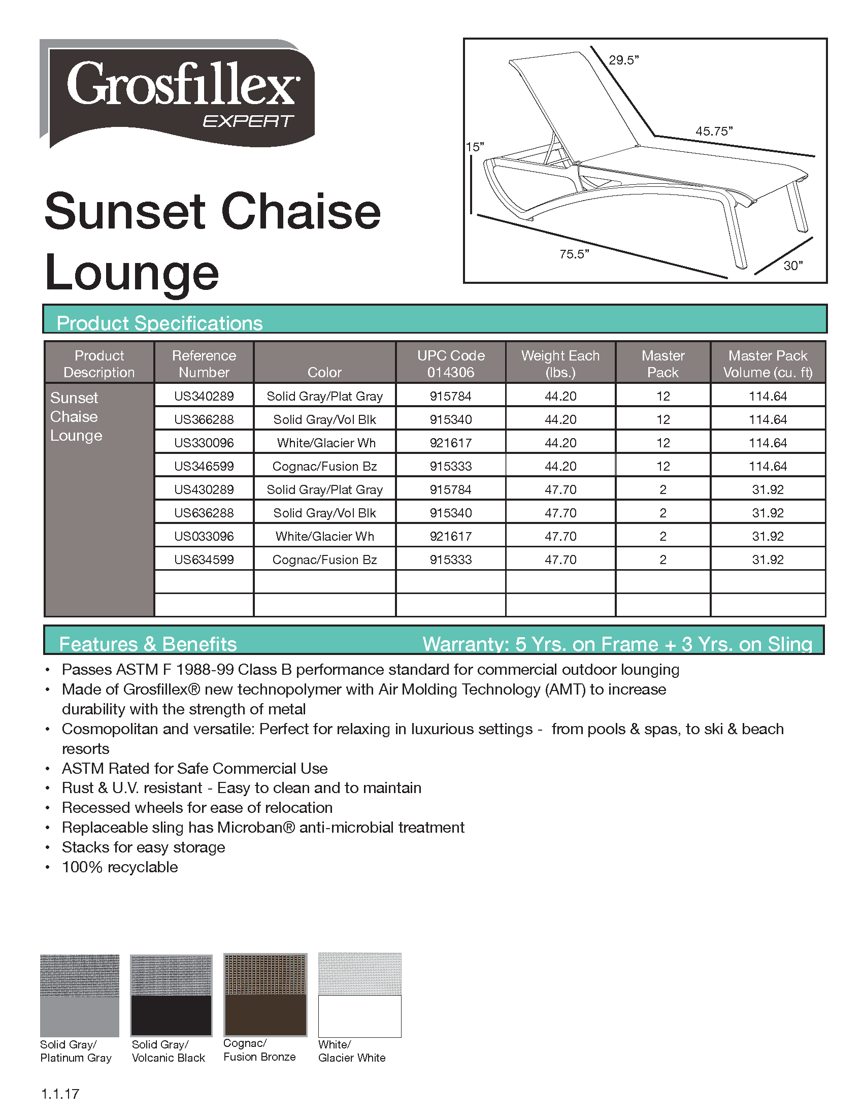 Sunset Chaise