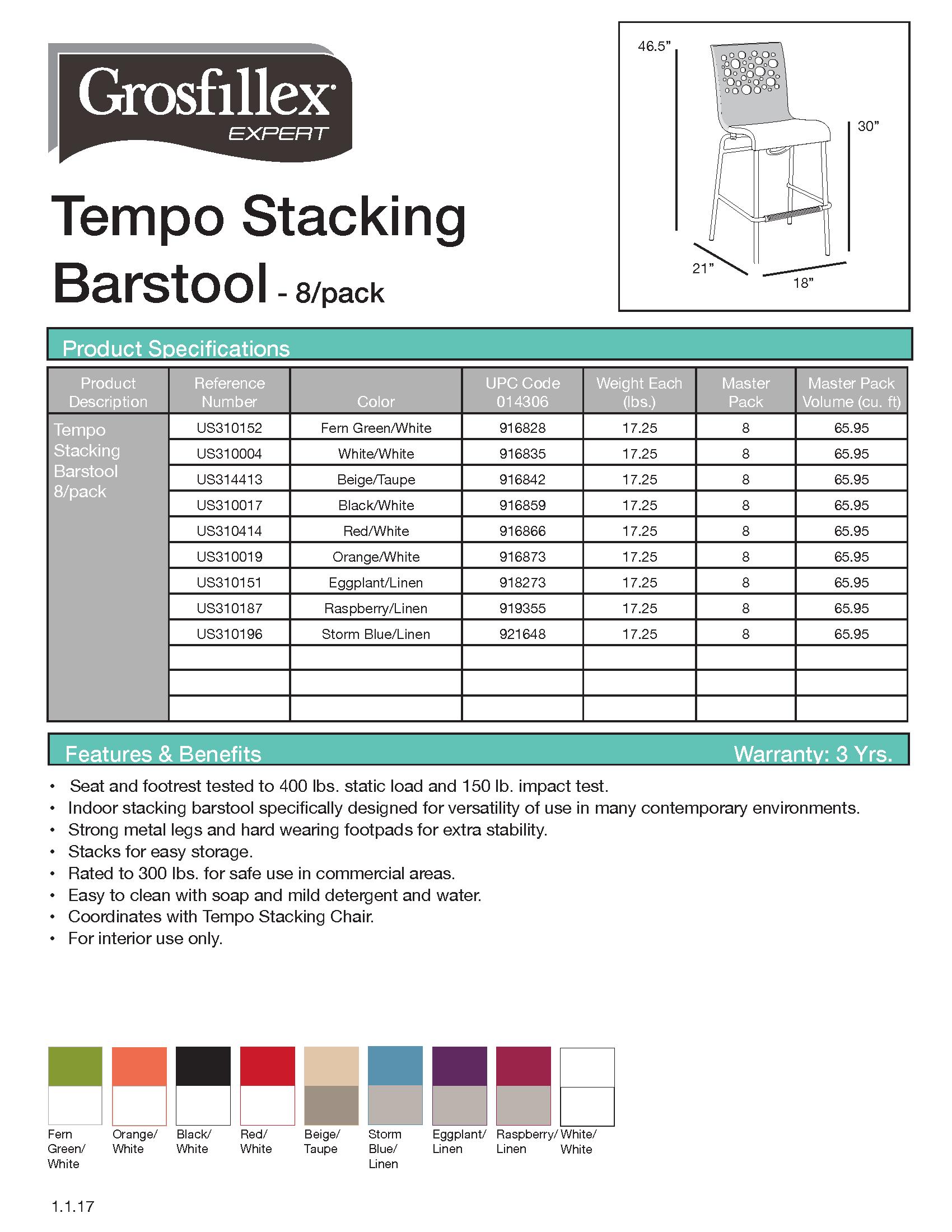 Tempo Barstool 8-pack