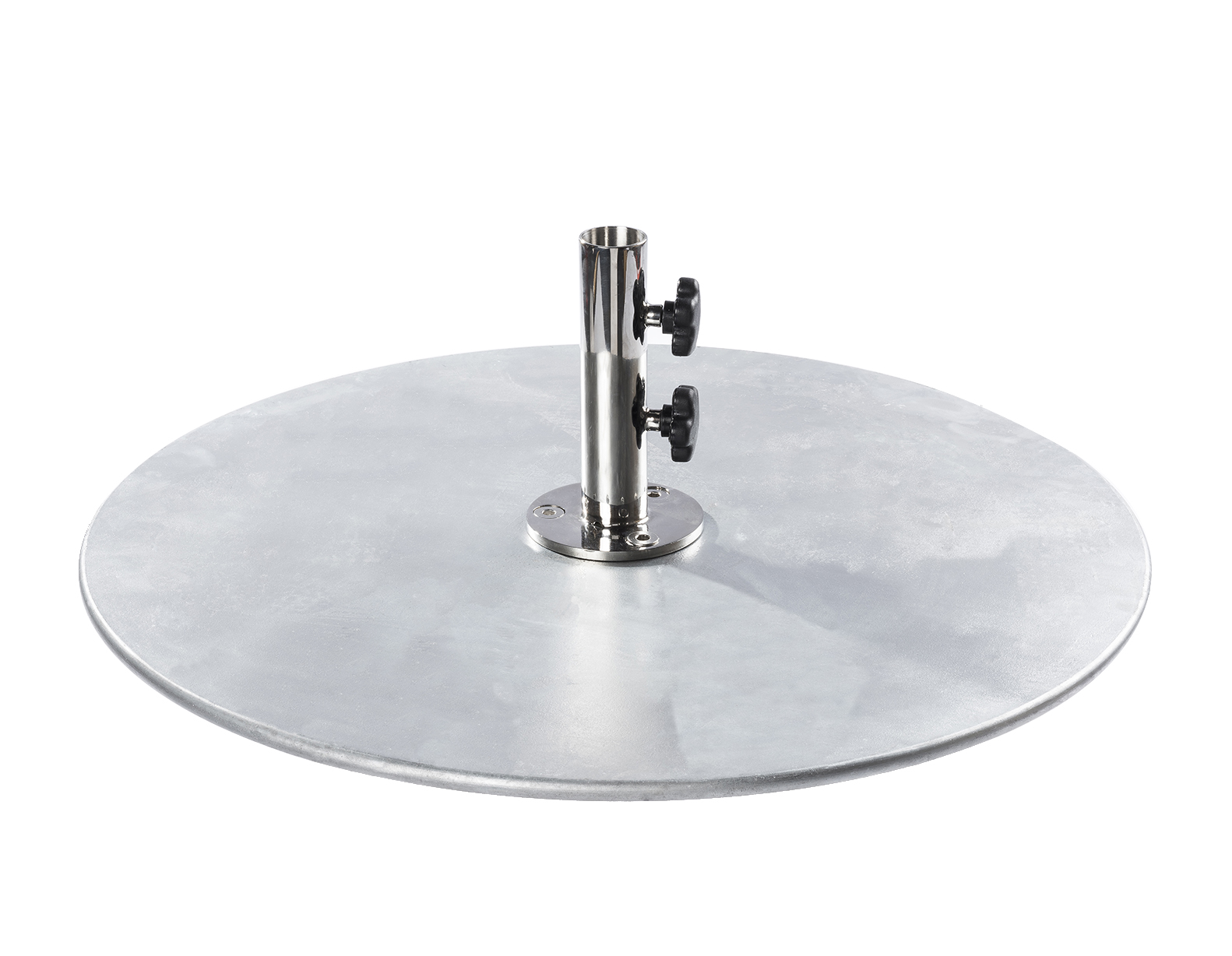 100 POUND GALVANIZED STEEL PLATE BASE $319.00 Click Here to See Spec Sheet