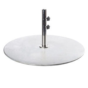 150 POUND GALVANIZED STEEL PLATE BASE $409.00 Click Here to See Spec Sheet