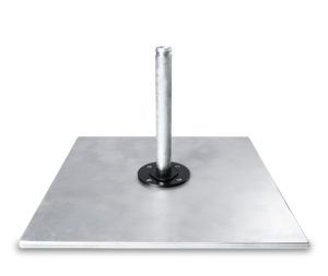 Galvanized Steel Square Base Double Stack(200 pounds)