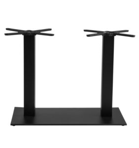 LAREDO DOUBLE POST TABLE BASE-SILVER RC2142 $349.00 BAR HEIGHT RC2142 & RC2143 $449.00 CLICK FOR SPEC SHEET