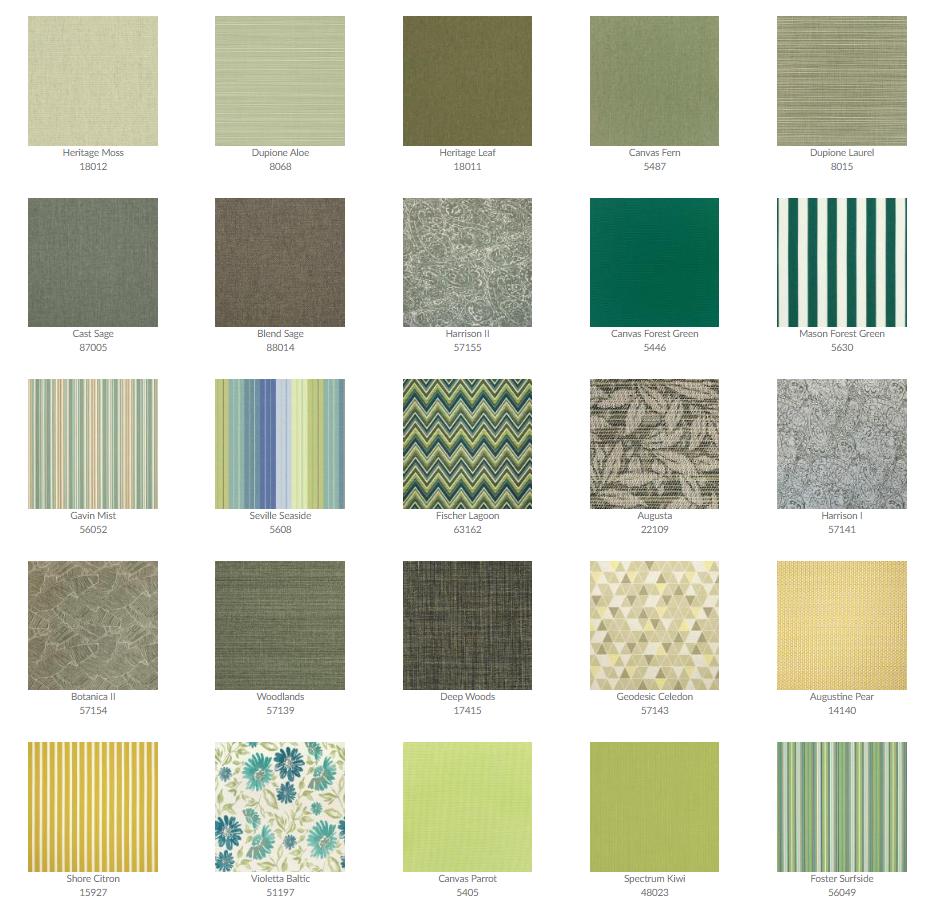 Tropitone Cushion Fabrics 10