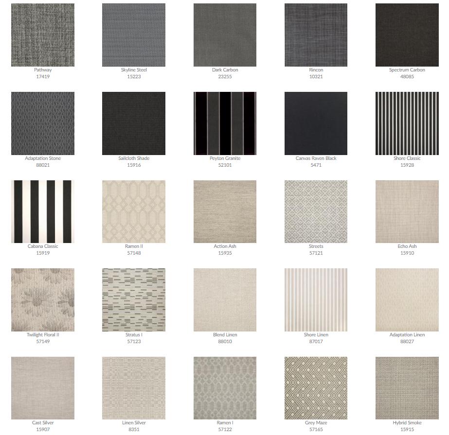 Tropitone Cushion Fabrics 2