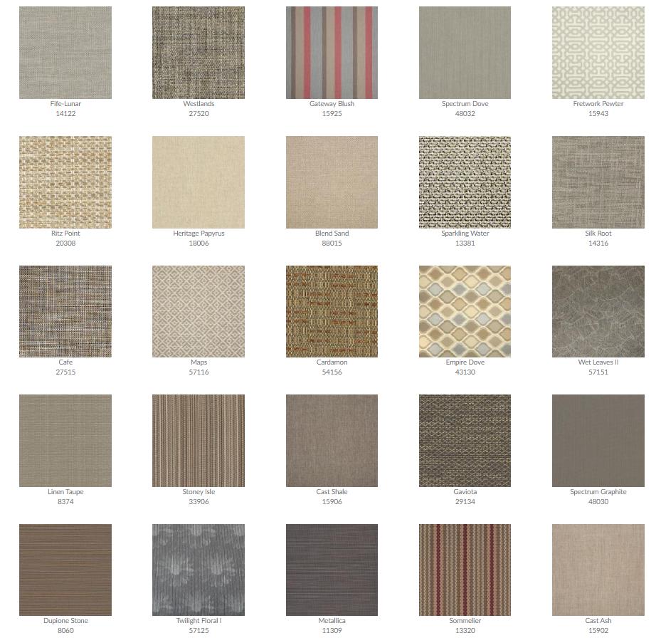 Tropitone Cushion Fabrics 3