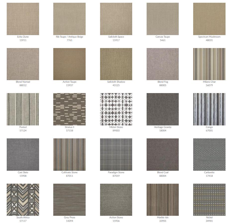 Tropitone Cushion Fabrics 4