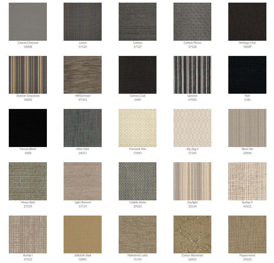 Tropitone Cushion Fabrics 5