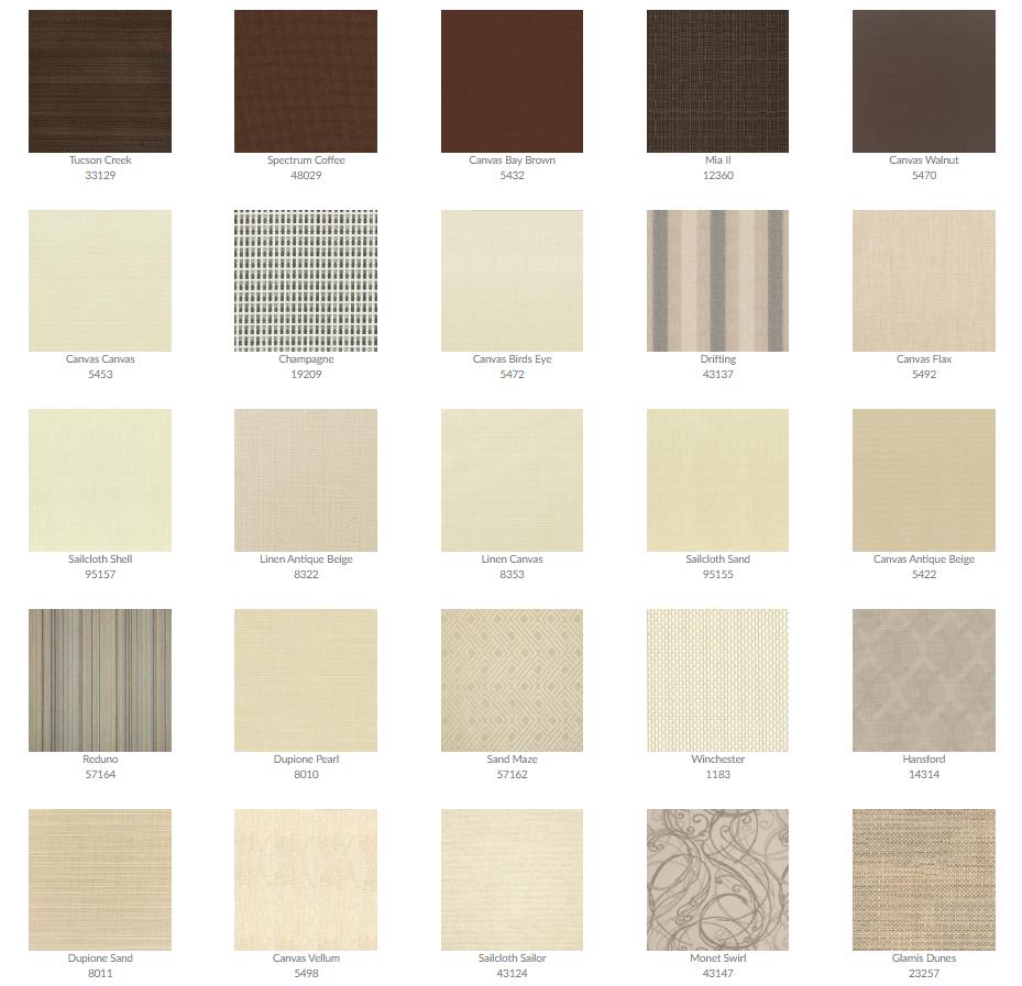 Tropitone Cushion Fabrics 7