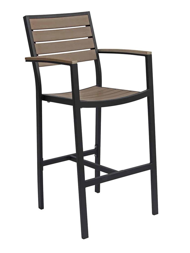 CARMEL BAR STOOL WITH ARMS-BLACK/GRAY RC2054-BG $249.00 CLICK FOR SPEC SHEET