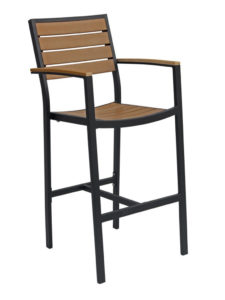 CARMEL BAR STOOL WITH ARMS-BLACK/TEAK RC2054-BT $219.00 CLICK FOR SPEC SHEET