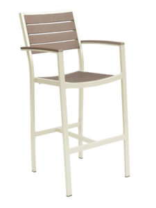 CARMEL BAR STOOL WITH ARMS-CHAMP/GRAY RC2054-CG $219.00 CLICK FOR SPEC SHEET
