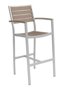CARMEL BAR STOOL WITH ARMS-SILVER/GRAY RC2054-SG $219.00 CLICK FOR SPEC SHEET
