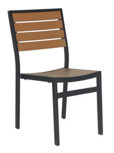 CARMEL SIDE CHAIR-BLACK/TEAK RC2051-BT $149.00 CLICK FOR SPEC SHEET