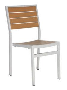 CARMEL SIDE CHAIR-SILVER/TEAK RC2051-ST $149.00 CLICK FOR SPEC SHEET