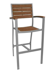 HOLLYWOOD BAR STOOL WITH ARMS-17 COLORS AVAILABLE RC2059 $229.00 CLICK FOR SPEC SHEET