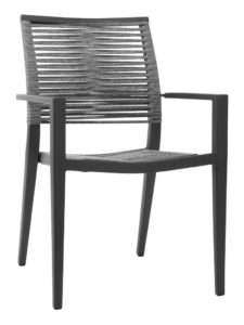KEY WEST ROPE ARM CHAIR-CHARCOAL RC2012-C $179.00 CLICK FOR SPEC SHEET