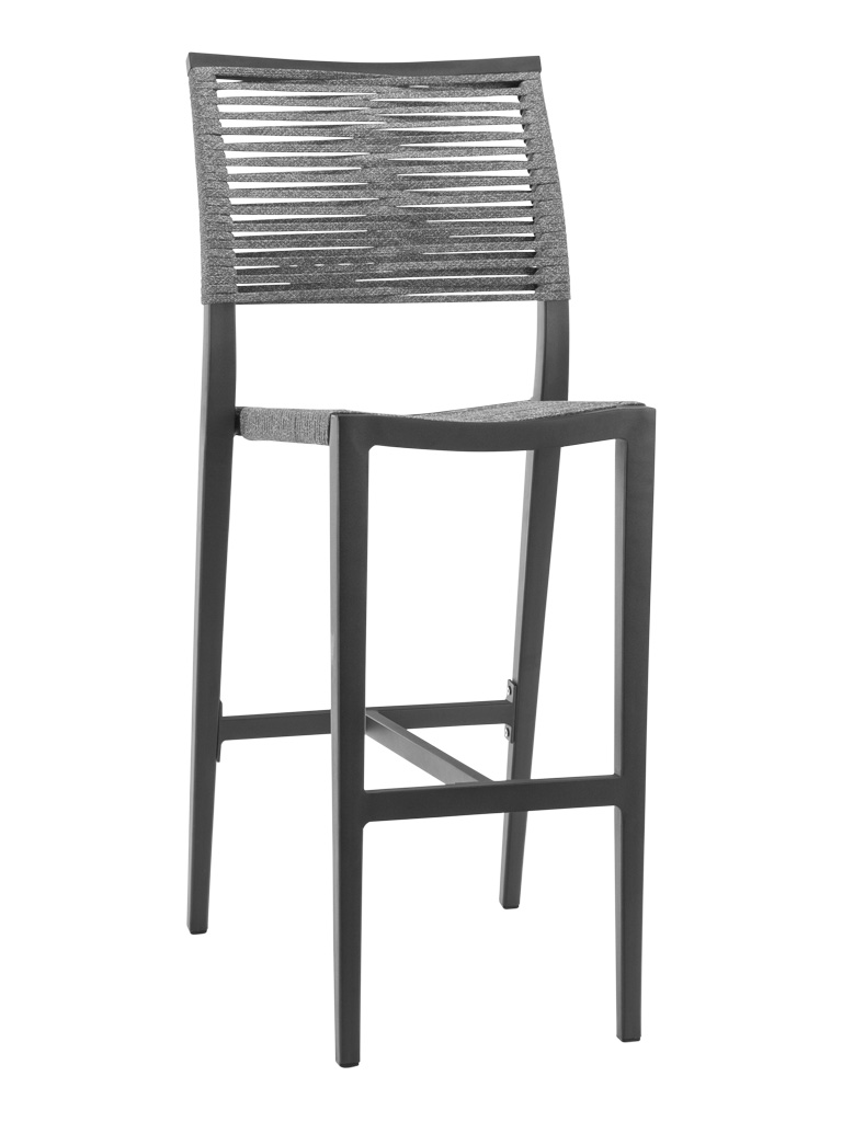 KEY WEST ROPE ARMLESS BAR STOOL-CHARCOAL RC2014-C $219.00 CLICK FOR SPEC SHEET