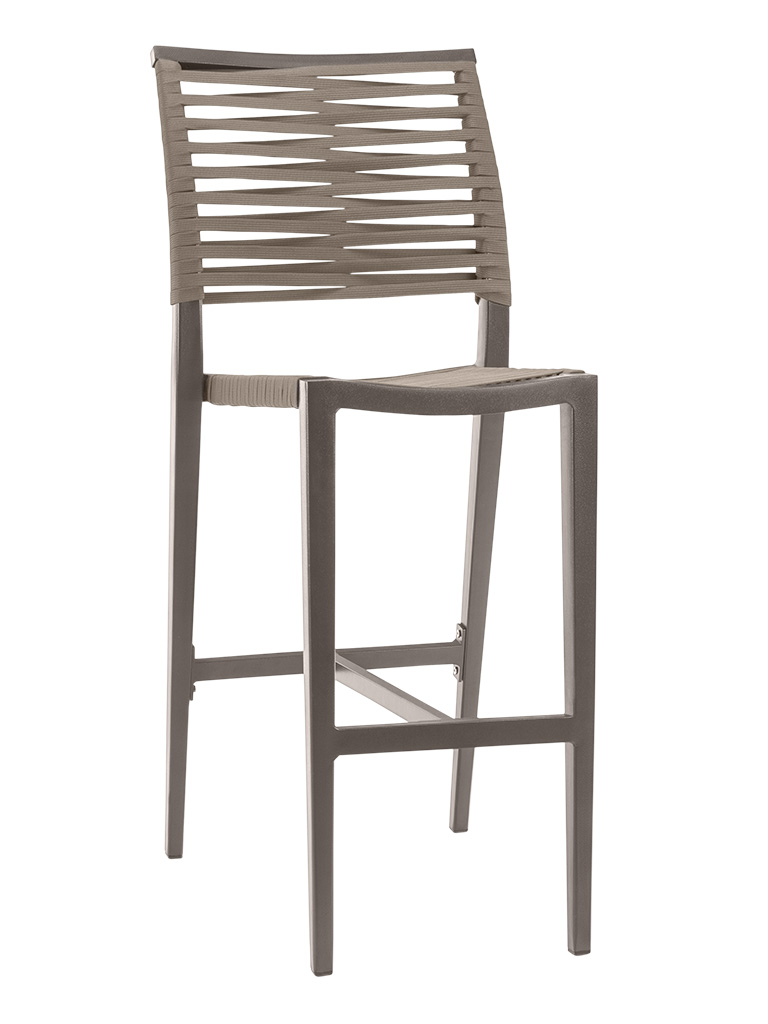 KEY WEST ROPE ARMLESS BAR STOOL-PEWTER RC2014-P $219.00 CLICK FOR SPEC SHEET