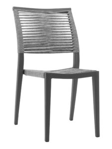 KEY WEST ROPE SIDE CHAIR-CHARCOAL RC2010-C $159.00 CLICK FOR SPEC SHEET
