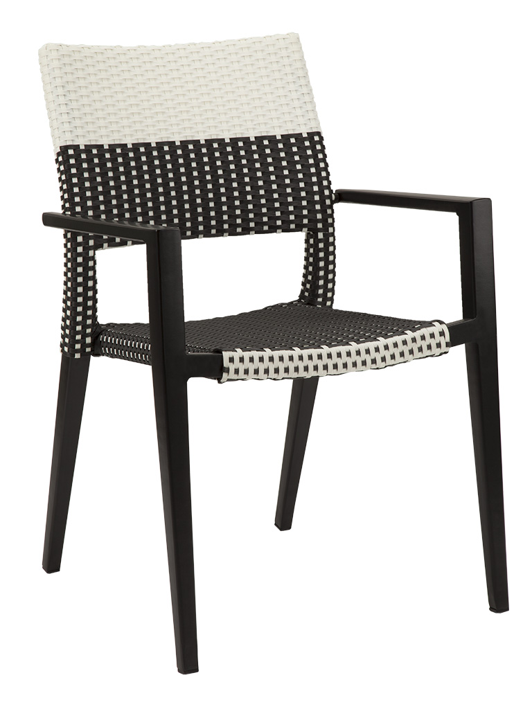 KEY WEST WEAVE ARM CHAIR-BLACK/WHITE RC2011-BW  $159.00 CLICK FOR SPEC SHEET