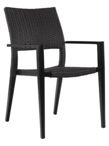 KEY WEST WEAVE ARM CHAIR-BLACK RC2011-B $159.00 CLICK FOR SPEC SHEET
