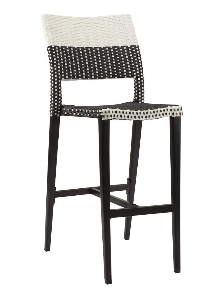 KEY WEST ARMLESS BAR STOOL-BLACK/WHITE RC2013-BW $199.00 CLICK FOR SPEC SHEET