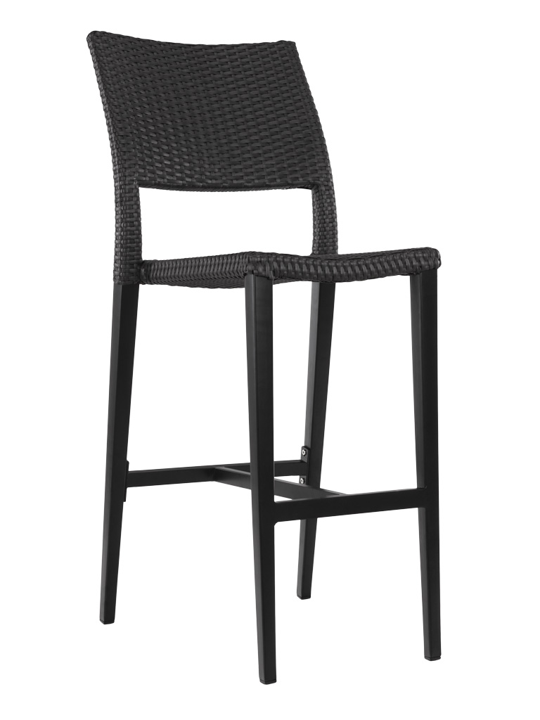 KEY WEST WEAVE ARMLESS BAR STOOL-BLACK RC2013-B $199.00 CLICK FOR SPEC SHEET