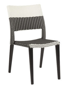 KEY WEST WEAVE SIDE CHAIR-BLACK/WHITE RC2009-BW $139.00 CLICK FOR SPEC SHEET