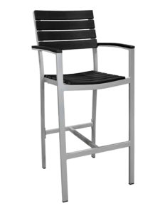 MAUI BAR STOOL WITH ARMS-BLACK RC2148-B $219.00 CLICK FOR SPEC SHEET