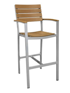 MAUI BAR STOOL WITH ARMS-TEAK RC2148-T $219.00 CLICK FOR SPEC SHEET