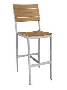 MAUI ARMLESS BAR STOOL-TEAK RC2147-T $239.00 CLICK FOR SPEC SHEET
