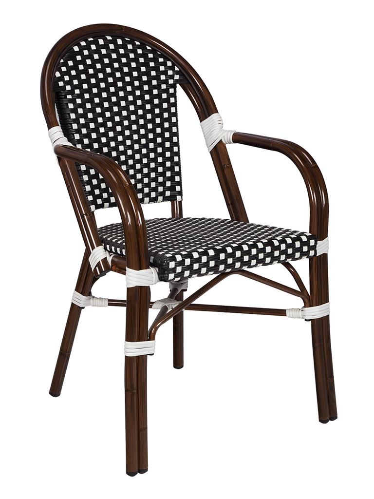 NAPLES ARM CHAIR-BLACK/WHITE RC2085-BW $149.00 CLICK FOR SPEC SHEET