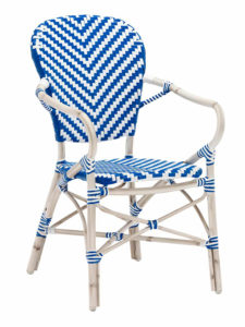 NAPLES AMR CHAIR-BLUE/WHITE RC2085-BW $149.00 CLICK FOR SPEC SHEET