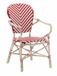 NAPLES ARM CHAIR-RED/WHITE RC2085-RW $149.00 CLICK FOR SPEC SHEET