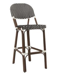 NAPLES ARMLESS BAR STOOL-BLACK/WHITE RC2086 $239.00 CLICK FOR SPEC SHEET