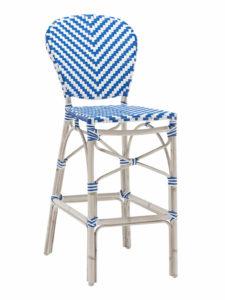 NAPLES ARMLESS BAR STOOL-BLUE/WHITE RC2086 $239.00 CLICK FOR SPEC SHEET