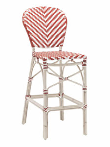 NAPLES ARMLESS BAR STOOL-RED/WHITE RC2086 $209.00 CLICK FOR SPEC SHEET