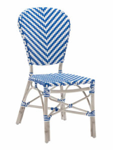NAPLES SIDE CHAIR-BLUE/WHITE RC2084-BW $139.00 CLICK FOR SPEC SHEET