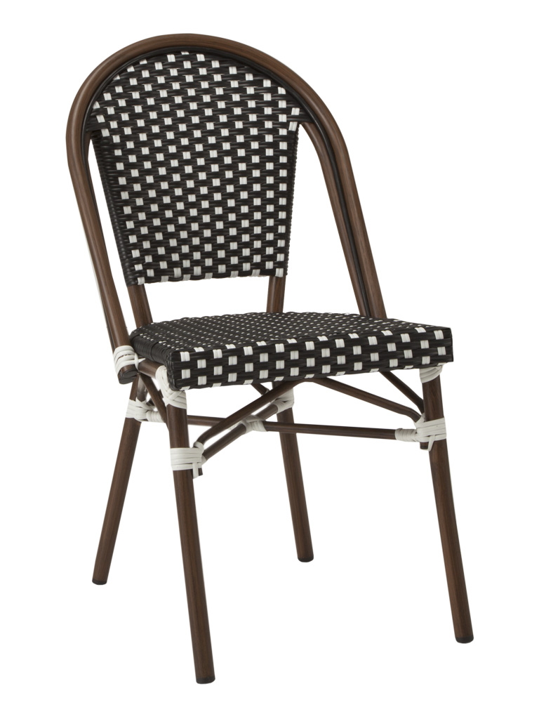 NAPLES SIDE CHAIR-BLACK/WHITE RC2084-BW $139.00 CLICK FOR SPEC SHEET
