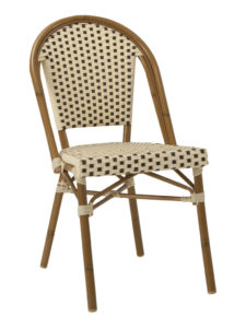 NAPLES SIDE CHAIR-CREAM/CHOC RC2084-CC $139.00 CLICK FOR SPEC SHEET