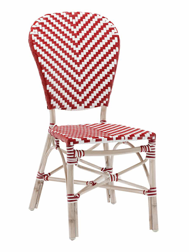 NAPLES SIDE CHAIR-RED/WHITE RC2084-RW $139.00 CLICK FOR SPEC SHEET