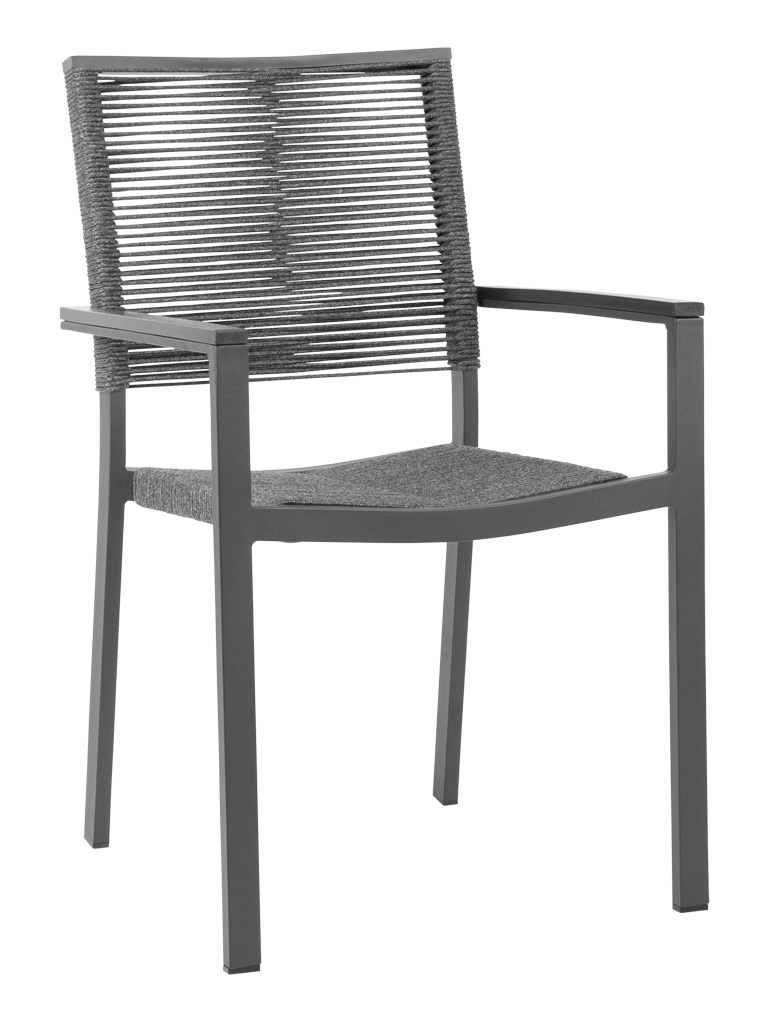 TAHITI ROPE ARM CHAIR-CHARCOAL RC2044-C $179.00 CLICK FOR SPEC SHEET